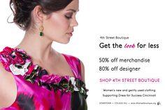 50% off merchandise, 80% off designer