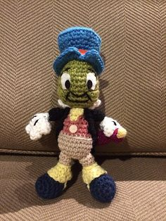 "Jiminy Cricket Pattern from the ""Disney Classic Crochet"" kit by Megan Kreiner (MK Crochet)"