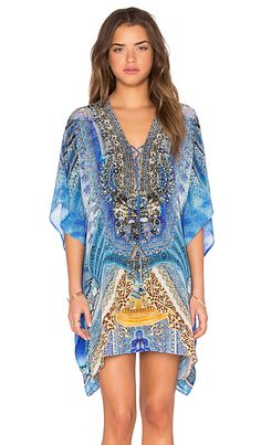 Camilla Short Lace Up Kaftan in Palace Of Dreams | REVOLVE