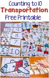 Transportation Theme Free Printables to Build Matching Skills