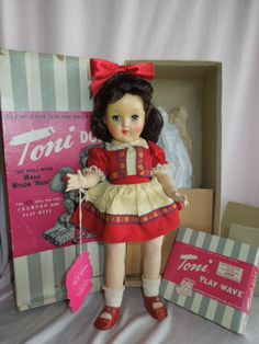 Toni Dolls From the 50s | GORGEOUS 1949-50 Ideal P90 Toni Mint in Box
