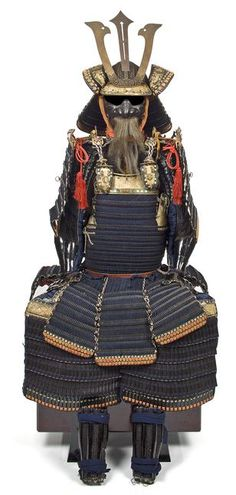 Japan, a fine black-lacquer armor with a do-maru cuirass Edo period, 18th century