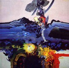 Alejandro Obregón Atacurí 1985 Colombian Art, Art Techniques, Paintings, Contemporary Artists, Abstract Paintings, Fine Art, Artworks, Abstract, Birds