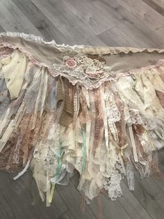 Excited to share this item from my shop: Handmade Stevie Nicks style Mix media art /fabric collage one size fits all wrap magnolia Cowgirl wedding/formal skirt Plus Size Formal Dresses, Formal Skirt, Antique Lace, Vintage Lace, Ropa Shabby Chic, Shabby Chic Dress, Boho Dress, Rag Skirt, Cowgirl Wedding