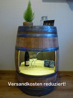 Weinfass- Kommode Vitrine von Fass-Schmiede via dawanda.com
