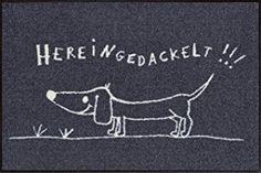 Felpudo con dibujo de perro teckel