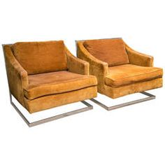 Milo Baughman for Carsons Pair of Lounge Chairs