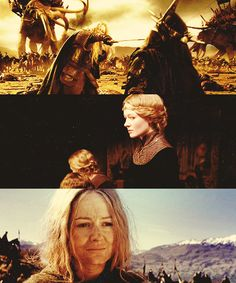 The strength of Eowyn. She fought for her people in more ways than one and endured the loss of her father. Strong woman right there.