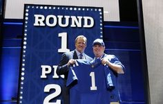 Shane Grady with NFL Commissioner Roger Goodell at the NFL Draft in Chicago