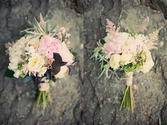 Bridal bouquet//bridesmaids bouquet - love the asymmetry and the long stems