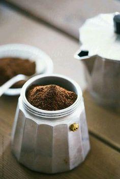 Espresso brewed old school. With a mokka.
