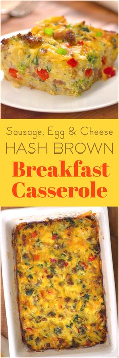 We took everything you love about breakfast — hash browns, sausage, and eggs — and baked them into a savory breakfast casserole with spinach & bell peppers and lots of bubbling cheddar cheese. This sausage and hash brown egg bake is so easy, you can even throw it together before you've had your morning coffee.