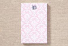 Custom 300 Sheet Pad, Pink Damask on One Kings Lane today
