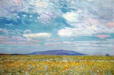 Childe Hassam - Love the colors, especially the blue!