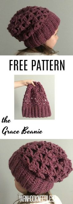 30 Days of Beanies! Need a light, simple beanie pattern? Check out the Grace beanie for FREE on the YarnHookNeedles Blog! -