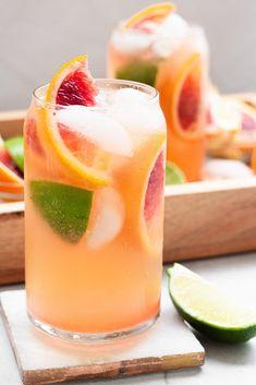 Spring Cocktails, Refreshing Cocktails, Fun Cocktails, Cocktail Drinks, Fun Drinks, Yummy Drinks, Beverages, Orange Cocktail, Cocktail Ideas