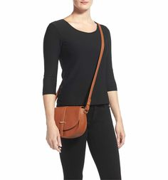 Main Image - BP. Faux Leather Saddle Crossbody Bag