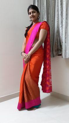 Vibrant coloured shiffon with a zig zag pleets and netted pallu Nauvari Saree, Wonder Woman Movie, Boho Style Dresses, Girls Blouse, Fancy Sarees, Saree Dress, Indian Designer Wear, Beautiful Saree, India Beauty