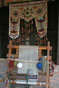 Silk weaving . Selcuk Turkey...