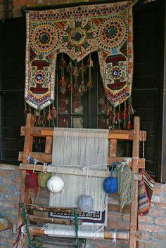 Silk weaving . Selcuk Turkey...