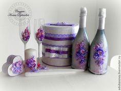 Лилово-фиолетовый комплект аксессуаров – купить или заказать в интернет-магазине на Ярмарке Мастеров | Лилово-фиолетовый комплект аксессуаров.В набор…