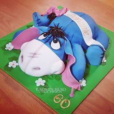 Eeyore Cake For Aunty One of my lovely Aunties turned 60 years young and LOVES Eeyore so here he is. 100% edible with caramel mudcake and...