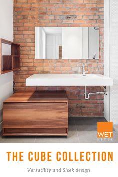 Credit:  Thellend Fortin Architecte Charles Lanteigne Contemporary Bathtubs, Wet Style, Floating Sink, Soaking Bathtubs, Vessel Sink, Shower Tub, Bathroom Furniture, Vanities, Luxury Homes