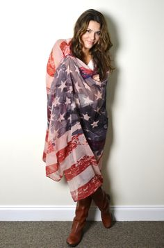 Hey, I found this really awesome Etsy listing at https://www.etsy.com/listing/130151143/boho-vintage-usa-american-flag-scarf