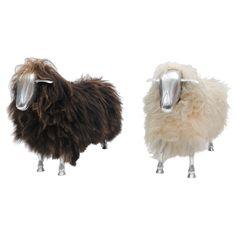 Sheep, 1965: Made of cast aluminum and sheepskin. #Sheep #Sculpture
