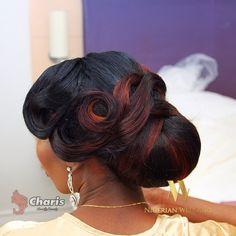 Nigerian wedding black bridal hair ideas and inspiration 45