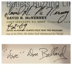 Medal of Honor (2 of 5). David McNerney (via mail), Don Ballard (via mail).