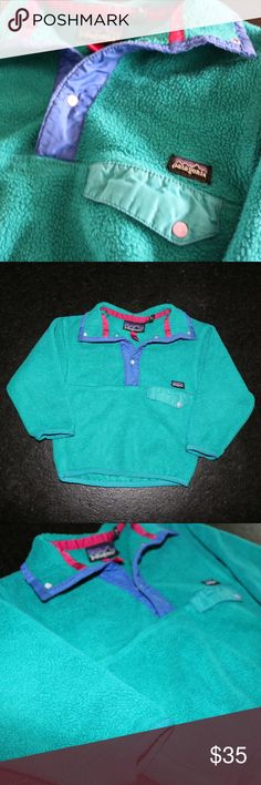 Kids Vintage Patagonia Pullover * Worn multiple times, but still in great condition! * Perfect Kids Pullover for cold months  * Patagonia is a great brand that will never go out of style! * If you have any questions please feel free to leave a comment below😊 Patagonia Jackets & Coats