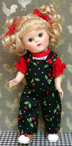 GiNNy iN ~CHoCoLaTe CHeRRiEs~. 2PC jumpsuit & shirt hand designed for Ginny, Muffie, Ginger.
