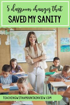 As I sit back and reflect back on this school year, I thought I would reflect back on the changes that I made in my classroom that absolutely saved my sanity. These tips and tricks for third, fourth, and fifth grade teachers just might save yours too! First Year Teachers, New Teachers, Elementary Teacher, Upper Elementary, Elementary Schools, Teachers Toolbox, 5th Grade Classroom, Future Classroom, School Classroom