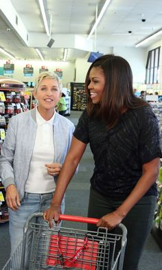 Michelle Obama and Ellen DeGeneres Scratch Strangers and Wreack Havoc in CVS
