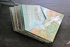 I need to write letters. -- use old maps to make envelopes