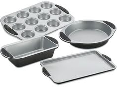Cayne's The Super Houseware Store::Bakeware::Bakeware Sets::4 PIECE SET EASY GRIP BAKEWARE Bakeware Sets, Kitchen, Store, Easy, Cuisine, Tent, Larger, Home Kitchens, Business