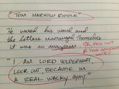 Harry Potter and the Chamber of Secrets /  26 Hilariously Terrible Rough Drafts Of Your Favorite Novels (via BuzzFeed)