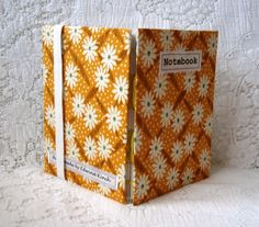 Notebook – feedsack retro print fabric £9.95