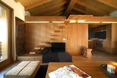 Wooden Interior Wood Love: Atmosphere of Unity Recreated in an Enchanting Apartment in Italy