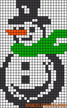 Winter snowman perler bead pattern