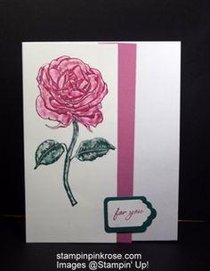 Stampin' Up! Friendship or Hello card made with Graceful Garden stamp set and designed by Demo Pamela Sadler. See more cards at stampinkrose.com #stampinkpinkrose#etsycardstrulyheart