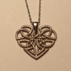 Heart Celtic Knot Pendant by dfoley75.deviantart.com on @DeviantArt