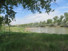 A view of the North Platte River (quite muddy at the moment) from the Platte River Parkway by the Casper soccer fields....
