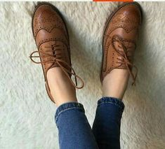 Tan Oxfords.