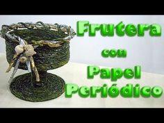 TÉCNICA DE PAPEL PERIÓDICO ENROSCADO (TECHNICAL , NEWSPAPER SCREWED) - YouTube