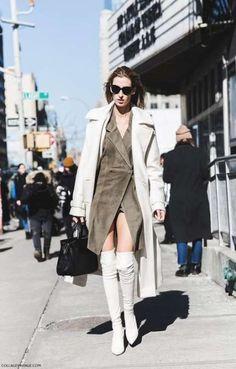 Fashion inspiration, New York Fashion Week, street style, Fall winter fur faux fur Nyfw Street Style, Street Style Summer, Street Chic, Street Styles, Street Wear, Dope Fashion, Trendy Fashion, Fashion Ideas, Modest Fashion