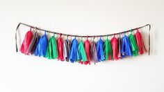 Tassel Banner, handmade. Thomas the train birthday party