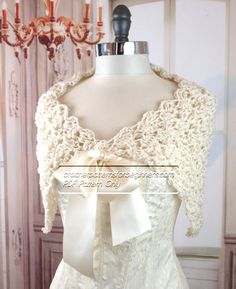 Crochet pattern for beginners. Easy crochet shawl pattern for a beautiful spring or summer, lightweight, crochet shawl with ribbon closure. All of our crochet patterns are easy and perfect for beginners. This would make a lovely keepsake wedding gift or bridal shower gift. *INSTANT DOWNLOAD* This pattern is available for an instant download. Once the payment is confirmed, you will receive an email with a download link (5 - 10 minutes after submitting your order). Please, do not leave a…
