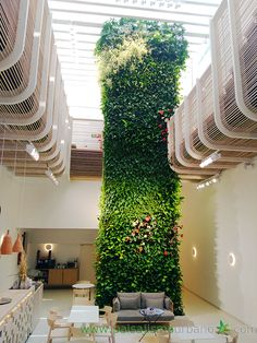 Vertical Planting, Vertical Garden Design, Vertical Gardens, Atrium Design, Column Design, Interior Garden, Interior Exterior, Green Facade, Landscape And Urbanism